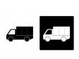 車・トラックシルエットイラスト素材 無料ダウンロード