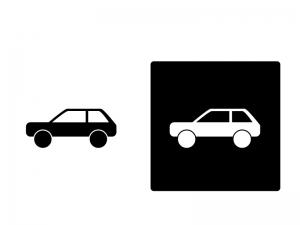 車・SUVシルエットイラスト素材 無料ダウンロード