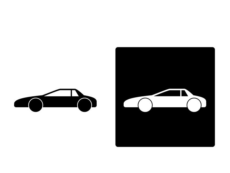 車・スーパーカーシルエットイラスト素材 無料ダウンロード