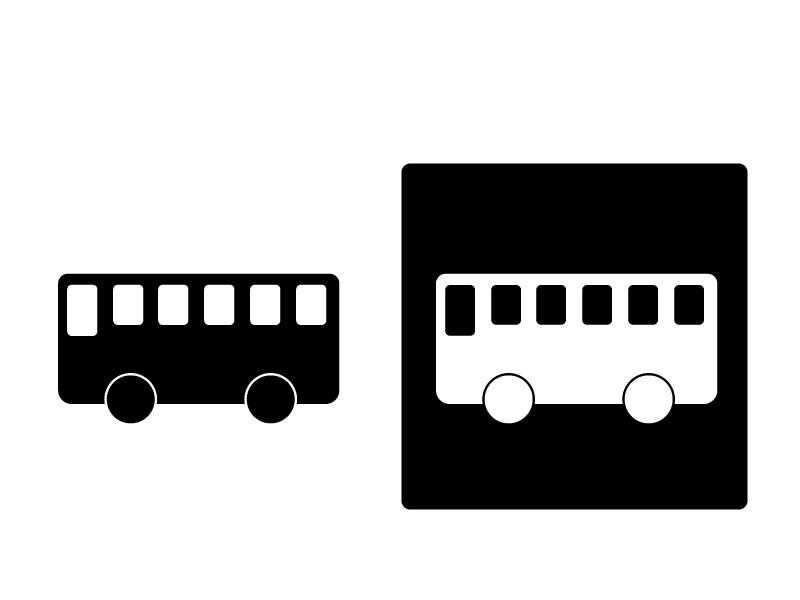 車・バスシルエットイラスト素材 無料ダウンロード