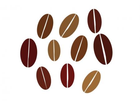 コーヒー豆イラスト素材01 無料ダウンロード