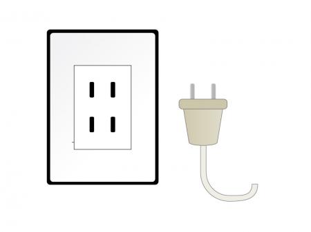 コンセント・電源・節電イラスト素材01 無料ダウンロード