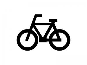 自転車マーク・サイクリングシルエットイラスト素材01