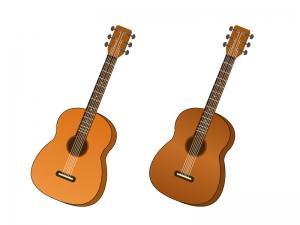 ギター・楽器イラスト素材01 無料ダウンロード