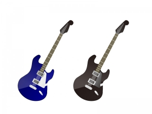 ギター・楽器イラスト素材02 無料ダウンロード