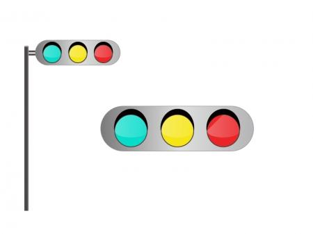 信号機・交通イラスト素材01 無料ダウンロード