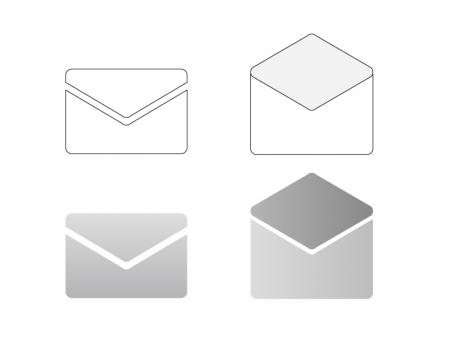 メールアイコン・イラスト素材01 無料ダウンロード