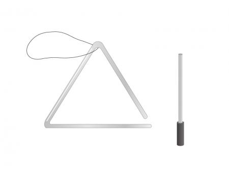 トライアングル・楽器イラスト素材01 無料ダウンロード