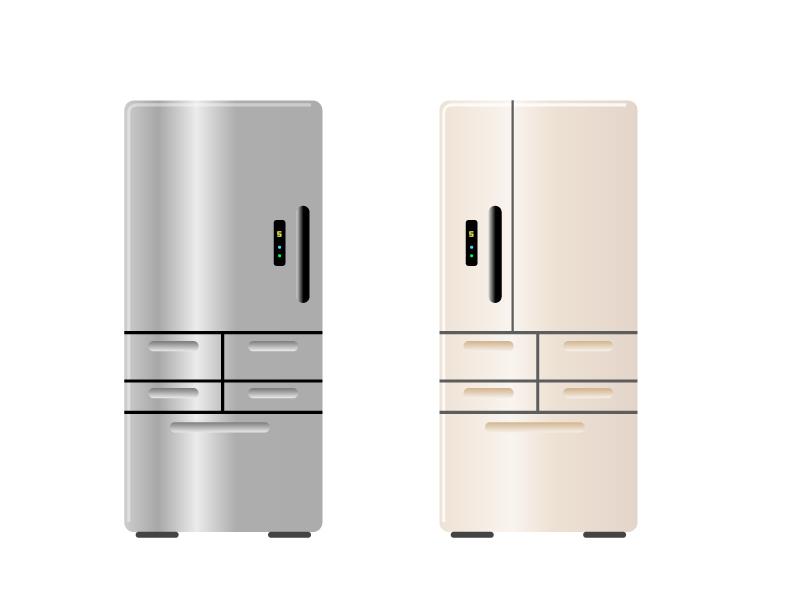 冷蔵庫・電化製品イラスト素材01 無料ダウンロード