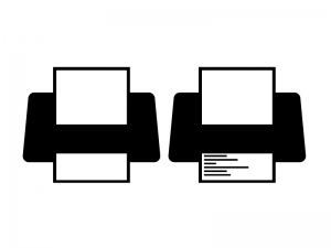 プリンター・印刷シルエットイラスト素材01 無料ダウンロード