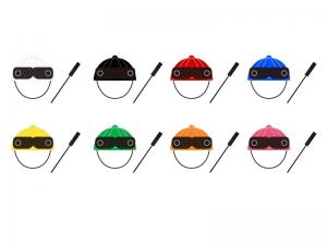 競馬・枠・帽子・鞭イラスト素材 無料ダウンロード