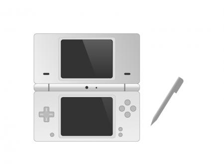 ゲーム機(DS風)イラスト素材 無料ダウンロード