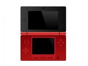 ゲーム機(3DS風)イラスト素材 無料ダウンロード