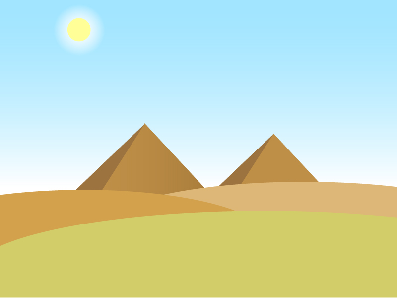 砂漠・ピラミッドイラスト素材01 無料ダウンロード
