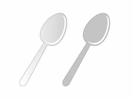 スプーンイラスト素材01 無料ダウンロード