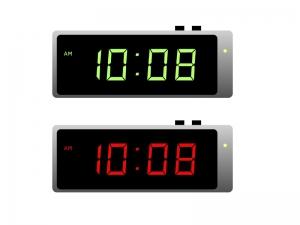時計・デジタルイラスト素材01 無料ダウンロード