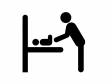 ベビー・赤ちゃんルームシルエット素材01 無料ダウンロード