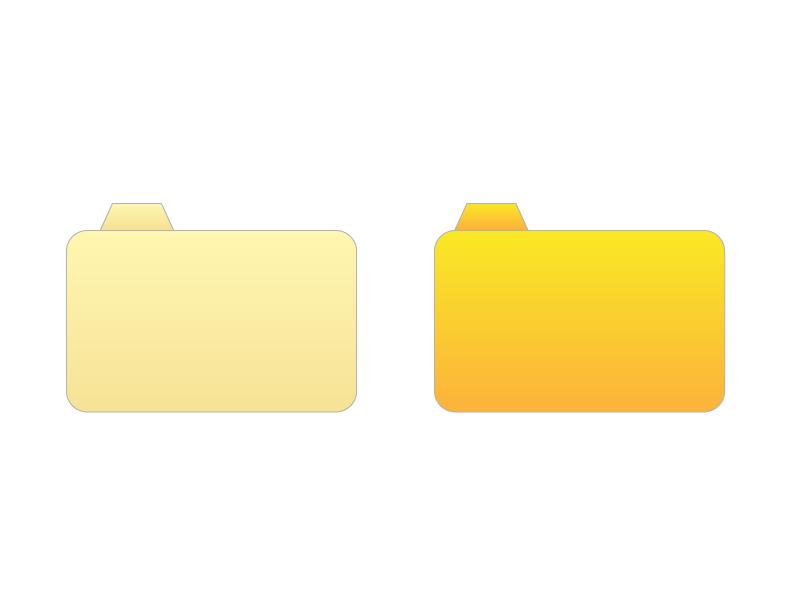 PCフォルダ・アイコンイラスト素材01 無料ダウンロード