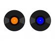レコード・音楽・レトロイラスト素材01 無料ダウンロード