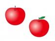 りんご(林檎)・果物イラスト素材01 無料ダウンロード