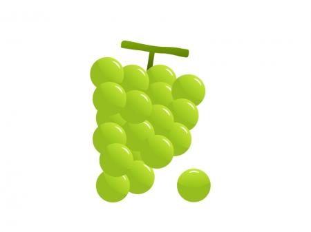 ぶどう(葡萄)・マスカット・果物イラスト素材01 無料ダウンロード