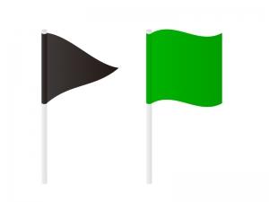 なびいている旗・フラグのイラスト素材 無料ダウンロード