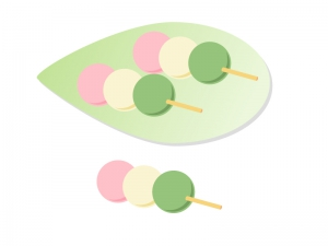 3色団子・和菓子イラスト素材 無料ダウンロード