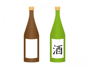 日本酒・一升瓶イラスト素材 無料ダウンロード