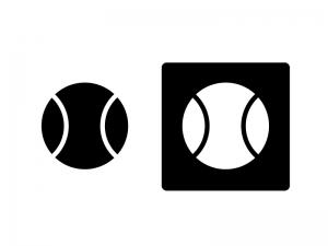 野球ボール・シルエットイラスト素材 無料ダウンロード