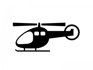 ヘリコプター・飛行機シルエット素材 無料ダウンロード