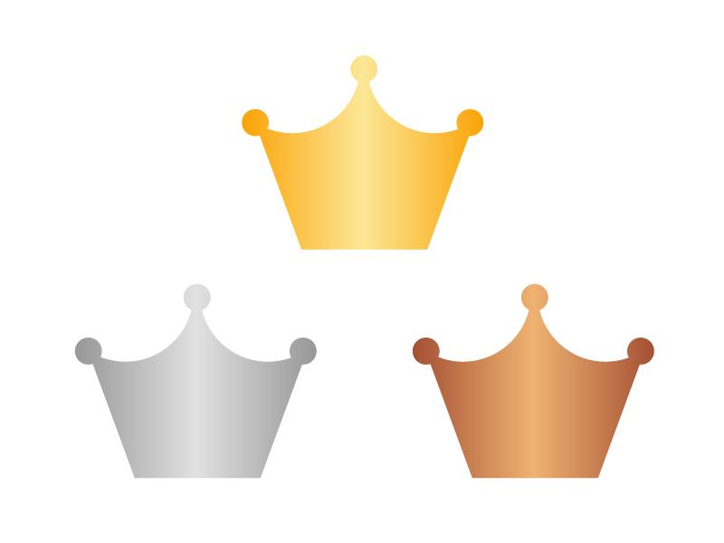 王冠マーク・アイコンイラスト素材 無料ダウンロード