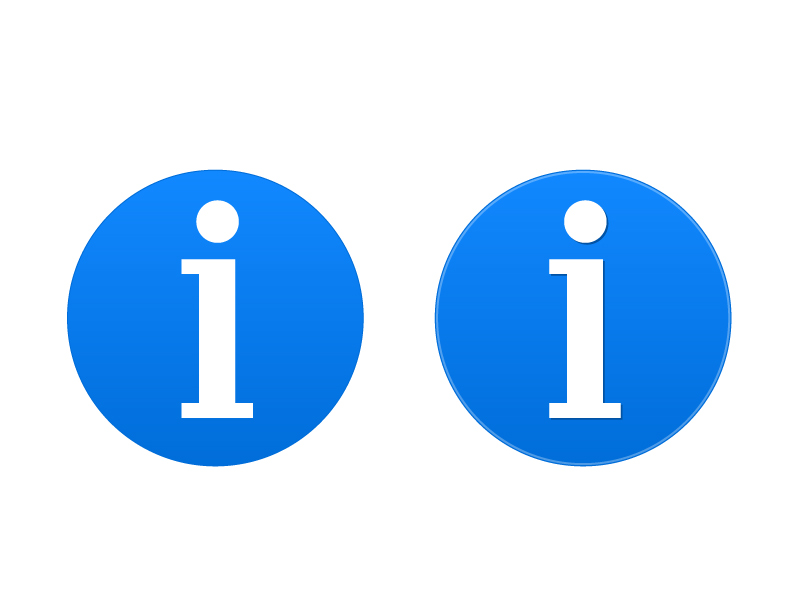 インフォメーション・情報アイコンマーク素材 無料ダウンロード