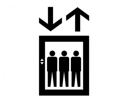 エレベーター・シルエット素材 無料ダウンロード