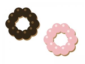 ドーナツ・菓子イラスト素材 無料ダウンロード