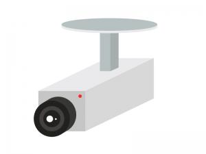 防犯・監視カメライラスト素材 無料ダウンロード