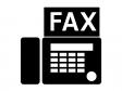 FAX・ファクシミリシルエット素材 無料ダウンロード