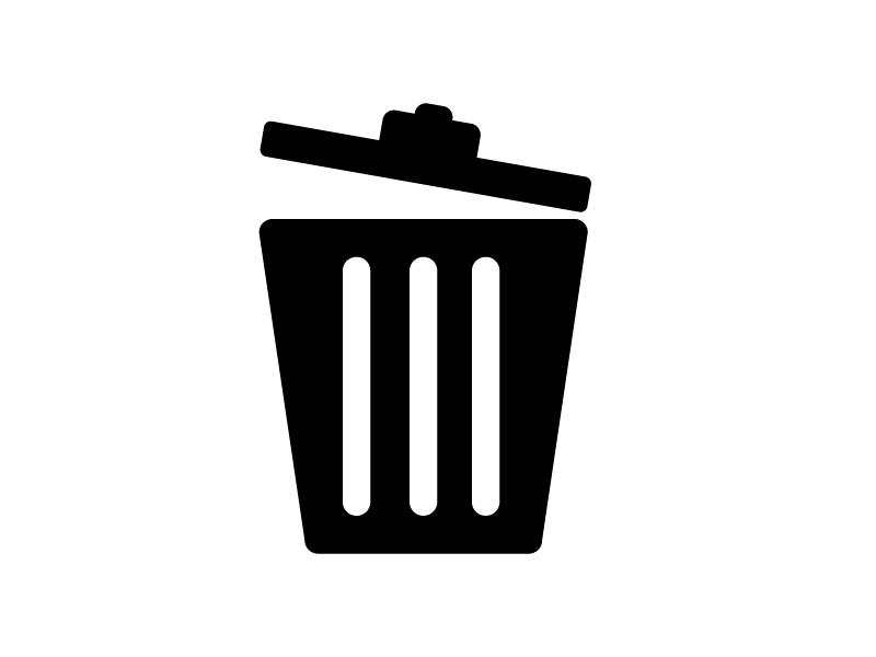 ゴミ箱・トラッシュボックスシルエット素材 無料ダウンロード