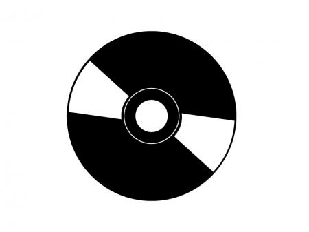 CD・DVDディスクのアイコンシルエット素材 無料ダウンロード