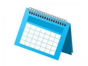 卓上カレンダーイラスト素材 無料ダウンロード