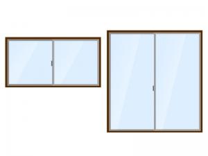 サッシ・窓・ガラスイラスト素材 無料ダウンロード