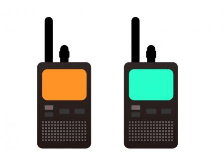 無線機・レシーバーイラスト素材 無料ダウンロード