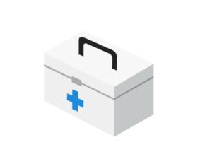 薬箱(救急箱)イラスト素材 無料ダウンロード