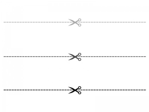 切り取り線イラスト素材