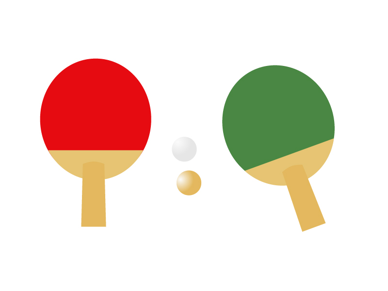 卓球・ピンポンラケットイラスト素材