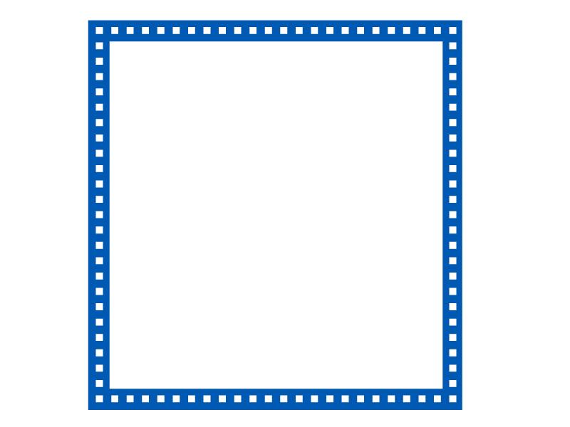 四角いシンプルな飾り枠素材02