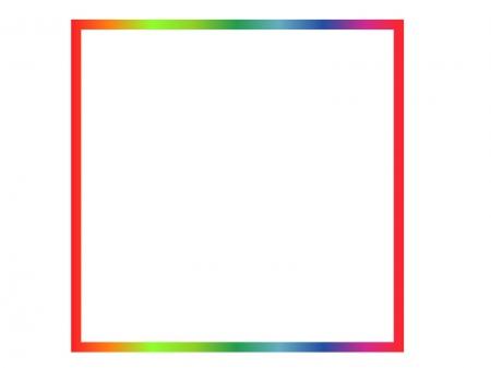 虹色の飾り枠素材01