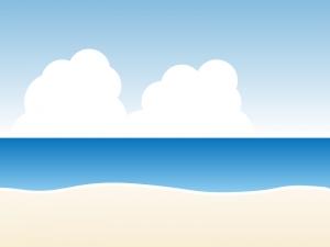 砂浜・ビーチイラスト素材