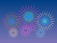 夜空にあがる花火のイラスト素材