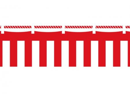 紅白幕イラスト素材
