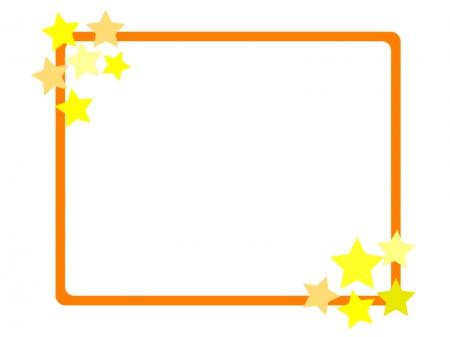 星の飾り枠・フレーム素材01